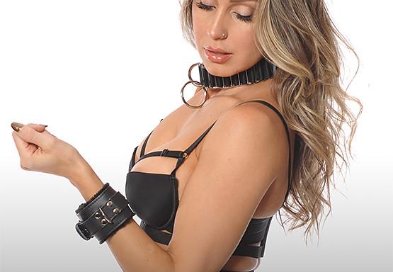 Black Wrist Cuffs